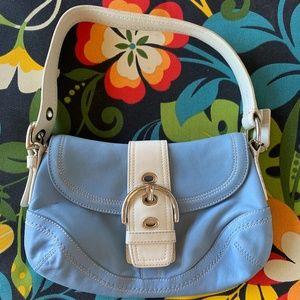 Coach Soho Blue Leather Shoulder Bag